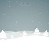 Winterscene - christmas card. Illustration of a Winter Landscape Stock Image