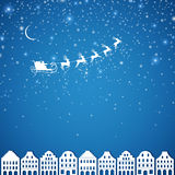 Winterscene - christmas card Stock Photos