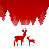 Winterscene - Kerstmiskaart Royalty-vrije Stock Foto