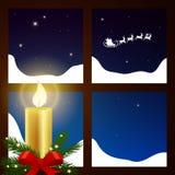 Winterscene - Kerstmiskaart Stock Fotografie