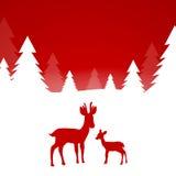 Winterscene - tarjeta de Navidad Foto de archivo libre de regalías