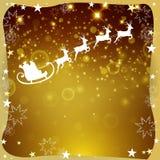 Winterscene - Weihnachtskarte Stockfotografie