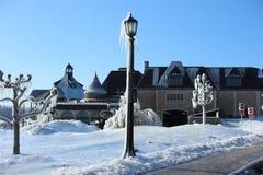 Winterschönheit in Niagara Falls Kanada stockbilder