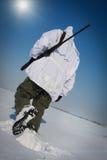 Winterscharfschütze Stockfotografie