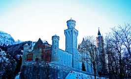 Winterschloss Stockfoto