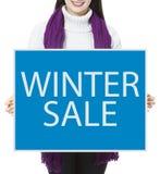 Winterschlussverkauf lizenzfreies stockbild