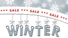 Winterschlussverkauf - Geschäftsverkaufskonzept lizenzfreie abbildung