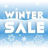 Winterschlussverkaufplakat, Vektorillustration Lizenzfreies Stockfoto