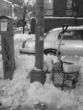 Winterschnee in Brooklyn Stockfotos