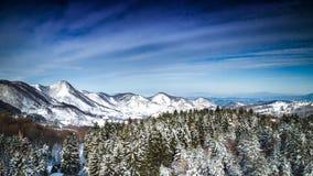 Winterschnee Natur-Park Zumberak Kroatien Samobor lizenzfreie stockfotos
