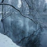Winterschnee-Wasserblau Lizenzfreie Stockfotos