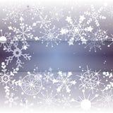 Winterschneeflockehintergrund mit Exemplarplatz Lizenzfreie Stockbilder