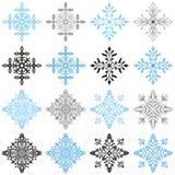 Winterschneeflocken eingestellt vektor abbildung