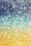 Winterschneehintergrund mit magischem bokeh Effekt Lizenzfreies Stockfoto