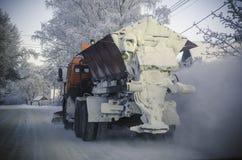 Winterschneewehen, russischer Winter Stockfoto