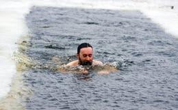 Winterschwimmen Lizenzfreie Stockfotografie