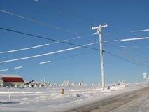 Winterse landkant Stock Foto's