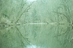 Winterse Rivier stock afbeeldingen