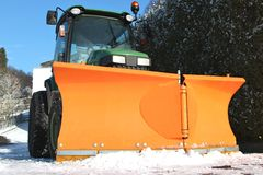 Winterservice-Fahrzeug Stockbilder