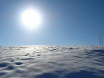 Wintersolarlandschaft Stockbilder