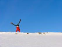 WinterSomersault lizenzfreie stockfotografie