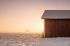 Wintersonnenaufgang Lizenzfreie Stockbilder