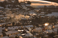 Wintersonnenuntergang Lizenzfreie Stockbilder