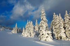 Wintersonnenuntergang Lizenzfreies Stockbild