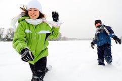 Winterspaß Lizenzfreie Stockfotos