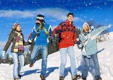 Winterspaß 12 Lizenzfreies Stockbild