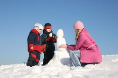 Winterspiel 2 Stockbilder
