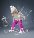 Winterspiel lizenzfreie stockbilder