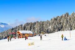 Wintersport in der Schweiz Stockbilder