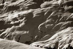 Wintersport extrême - différences d'échelle images libres de droits