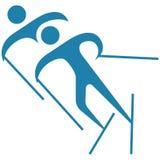 Wintersport - Skilanglaufikone Stockfoto