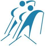 Wintersport - Skilanglaufikone Stockfotos