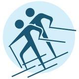 Wintersport - Skilanglaufikone Stockbild