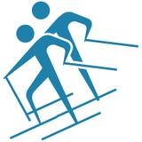 Wintersport - Skilanglaufikone Lizenzfreies Stockbild