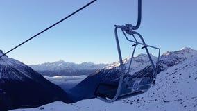 Wintersport w Szwajcaria fotografia stock