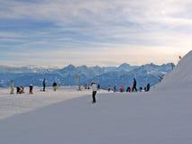 Wintersportatmosphäre Stockfotografie