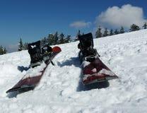 Wintersporten die - skiån Royalty-vrije Stock Foto's