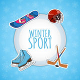 Wintersportenachtergrond Royalty-vrije Stock Foto