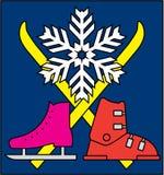 Wintersportensymbool Royalty-vrije Stock Fotografie