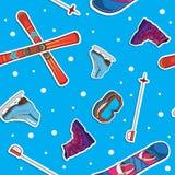 Wintersporthintergrund Lizenzfreies Stockfoto