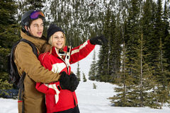 Wintersports Couple Royalty Free Stock Image