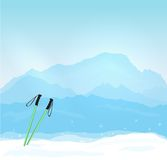 Wintersports in France Royalty Free Stock Photography