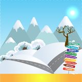 Wintersports in Franse Alpen royalty-vrije illustratie