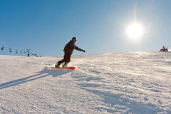 Wintersports in sunshine royalty free stock image