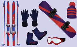 Wintersportzusätze Lizenzfreies Stockbild