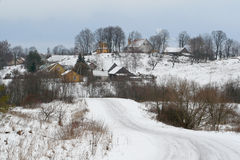 Winterstadt Lizenzfreie Stockfotografie